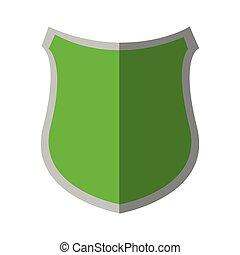 insignia, escudo, proteção, verde, segurança, sombra