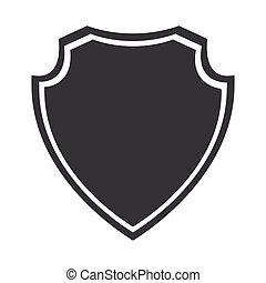insignia, gráfico, escudo, proteção, segurança, medieval