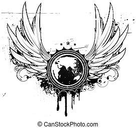 insignia, grunge