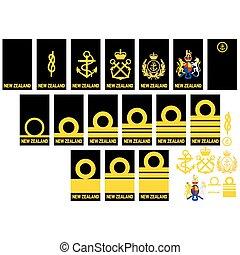Insignia in the Royal Navy of New Z - Badge of ranks Royal ...