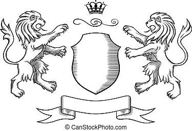 insignia, leões