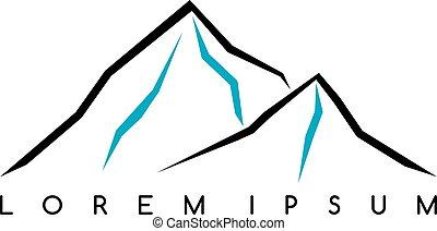 insignia, montaña que sube, al aire libre, excursionismo, actividades, everest, otro, aventura, viajando arduamente, logotipo, montañismo, extremo