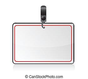 insignia, (name, tag), ilustración, blanco