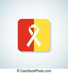 insignia, pegatina, hepatitis, shadow., vector, cinta, icono...