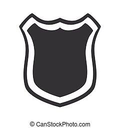 insignia, segurança, proteção, escudo