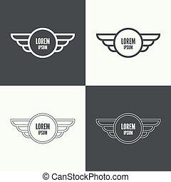 insignia, wings.