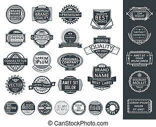 Insignias, Logotypes, Stamps Set. Retro Vintage design. ...