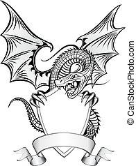 insignie, drak