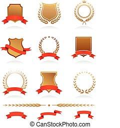 insignie, vybírání