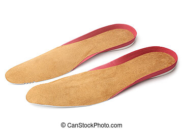 Insoles for shoes on white background
