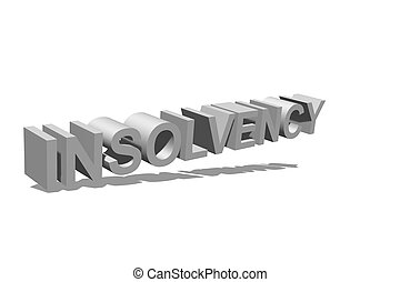 Insolvency as text for the background