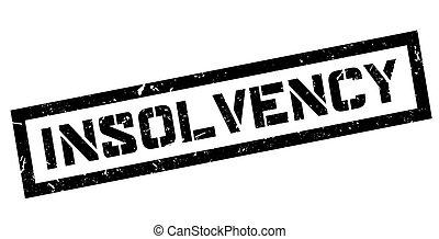 Insolvency rubber stamp - Insolvency, rubber stamp on white...