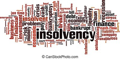 Insolvency word cloud concept. Collage made of words about ...