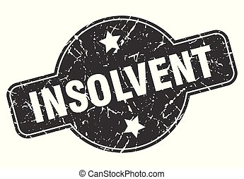 insolvent round grunge isolated stamp