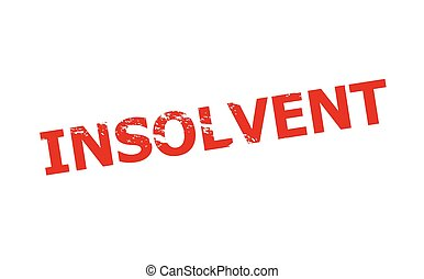 Rubber stamp with word insolvent inside, vector illustration