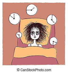 insomne, mujer