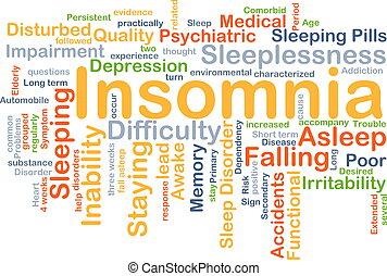 Insomnia background concept