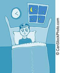 Insomnia cartoon character.