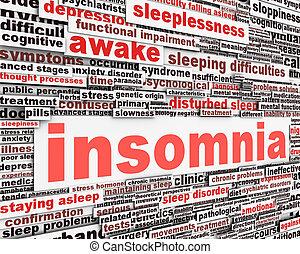 Insomnia message concept