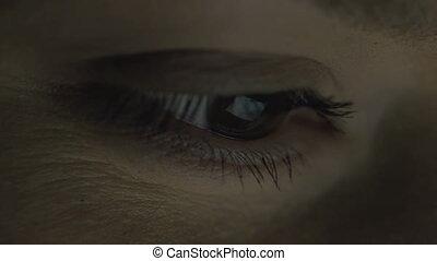 Insomniac - Eyeball touchscreen reflection while browsing...