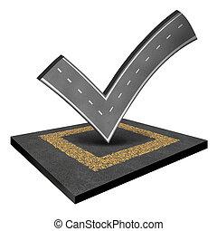 inspeção, estrada