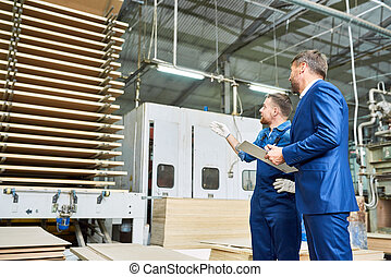 inspección, en, fábrica