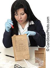 inspeccionando, evidência
