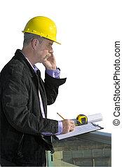 inspecteur, bouwterrein