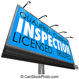 Inspection Qualified Certified Licensed Trusted Billboard ...