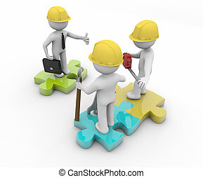 inspection - render of three workers, one with thumb up and ...