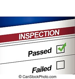 Inspection Results Passed illustration