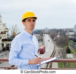 inspector, bloc, puerto