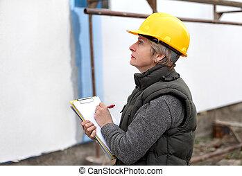 inspetor, local construção