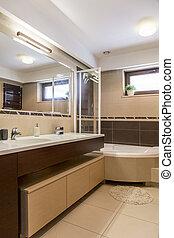 inspirálás, fürdőszoba, lakberendezési tárgyak