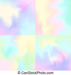 inspiré, pastel, toiles fond, hologramme, arrière-plans, ...