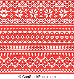 inspiré, traditionnel, sami, seamless, scandinave, ...