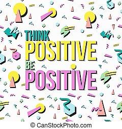 inspiração, citação, positivo, retro, fundo