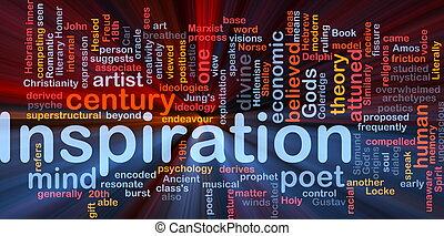 inspiração, fundo, conceito, glowing