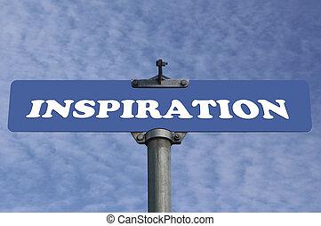 inspiração, sinal estrada