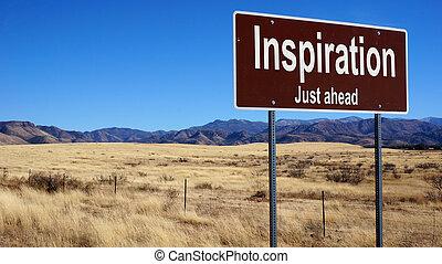 inspiración, marrón, muestra del camino