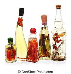 inspirado, óleos, vinagres