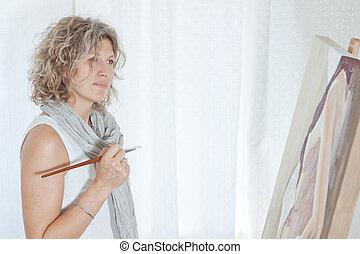 inspirado, hispictorial, arte, pintor, artista