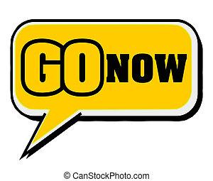 inspirando, concetto, parola, citazione, motivazione, giallo, discorso, fondo, andare, bolla, now.creative