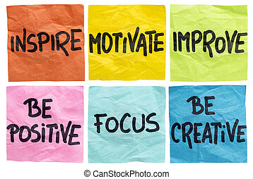 inspirar, motivar, notas, mejorar