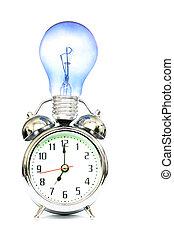Inspiration - Alarm clock and lightbulb