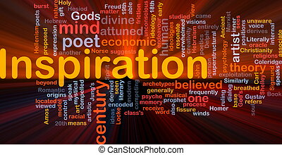 Inspiration background concept glowing - Background concept...