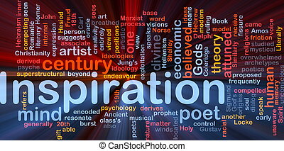 Background concept wordcloud illustration of humand mind inspiration glowing light
