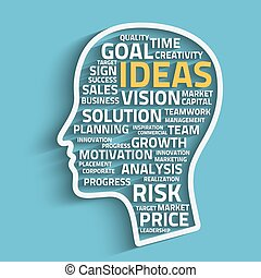 inspiration concept with head and business words, eps10 ...