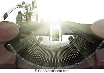 Inspiration - conceptual image of the old typewriter