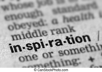 Inspiration Definition Word Text